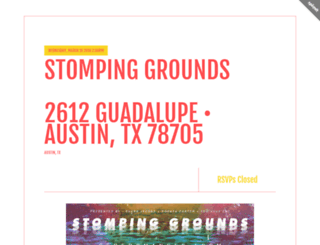stompinggrounds.splashthat.com screenshot