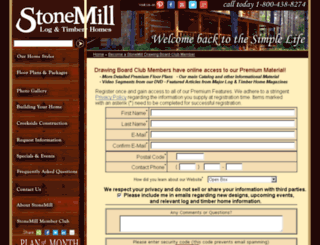 stonemillloghomes.com screenshot
