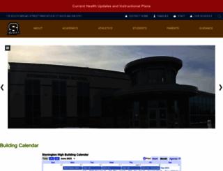 stoningtonhigh.org screenshot