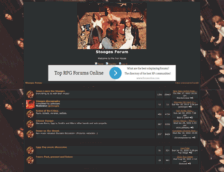 stoogesforum.forumotion.com screenshot