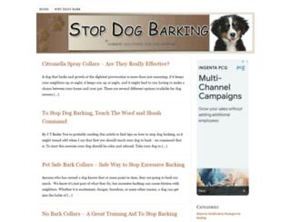 stopbarkingdogblog.com screenshot