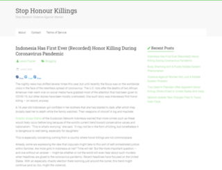 stophonourkillings.com screenshot
