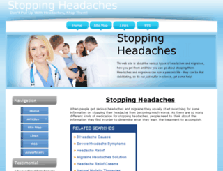 stopping-headaches.the-real-way.com screenshot