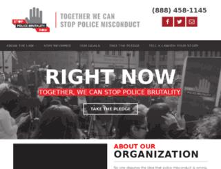 stoppolicebrutalitynow.litewebstudio.com screenshot