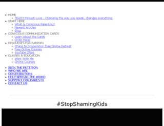 stopshamingkids.com screenshot