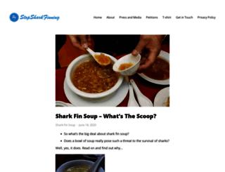 stopsharkfinning.net screenshot