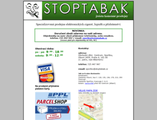 stoptabak.cz screenshot