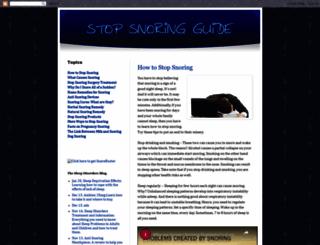 stopyoursnoringguide.blogspot.co.il screenshot