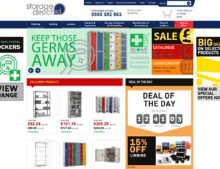 storagedirect.co.uk screenshot