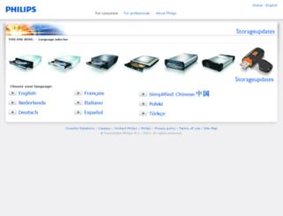 storageupdates.philips.com screenshot