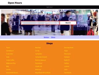 store-opening-times.co.uk screenshot