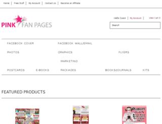 store-pinkfanpages-com.3dcartstores.com screenshot
