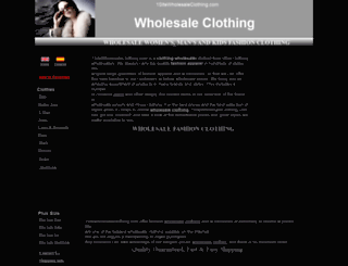 store.1sitewholesaleclothing.com screenshot