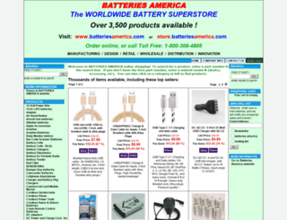 store.batteriesamerica.com screenshot