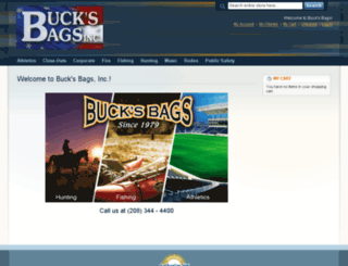 store.bucksbags.com screenshot
