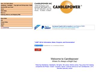 store.candlepower.com screenshot