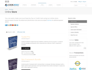 store.codejock.com screenshot