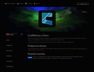 store.craftmania.cz screenshot