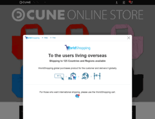 store.cune.jp screenshot
