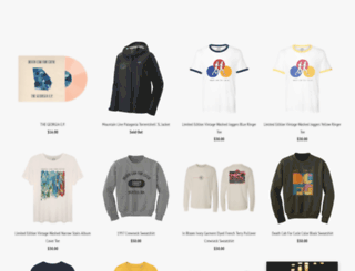 store.deathcabforcutie.com screenshot