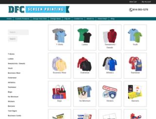 store.dfcscreenprinting.com screenshot
