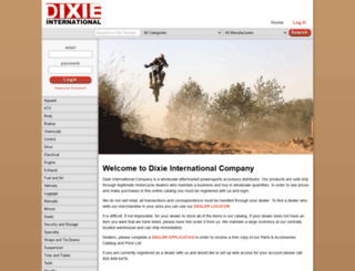 store.dixieinternational.com screenshot