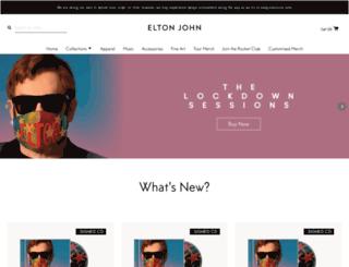 store.eltonjohn.com screenshot