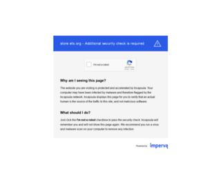 store.ets.org screenshot