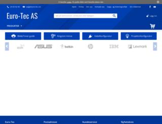 store.euro-tec.no screenshot