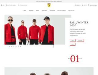 store.ferrari.com screenshot