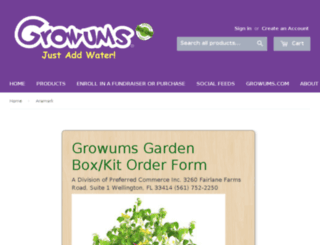 store.growums.com screenshot
