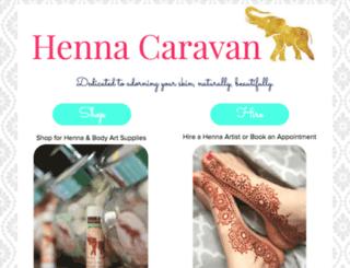 store.hennacaravan.com screenshot