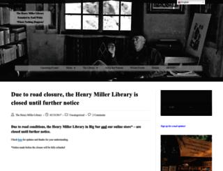 store.henrymiller.org screenshot