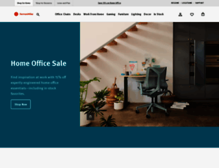 store.hermanmiller.com screenshot