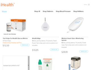store.ihealthlabs.com screenshot