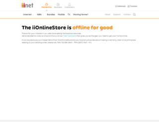 store.iinet.net.au screenshot