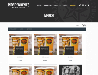 store.independencebrewing.com screenshot