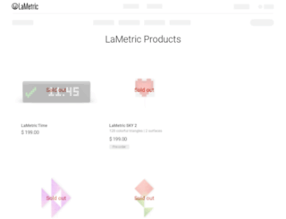 store.lametric.com screenshot