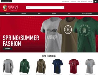 store.lionsrugby.com screenshot