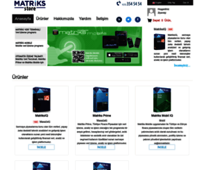 store.matriksdata.com screenshot