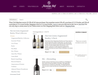 store.messinahof.com screenshot