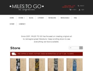 store.milestogoclothing.com screenshot