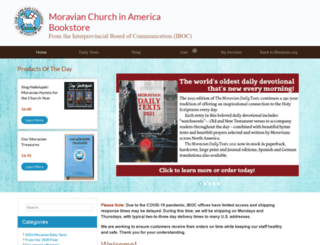 store.moravian.org screenshot