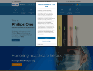 store.philips.com screenshot