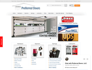 store.preferreddoorservice.com screenshot