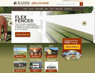 store.rammfence.com screenshot