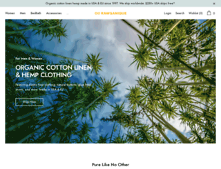 store.rawganique.com screenshot