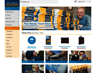 store.ricksteves.com screenshot