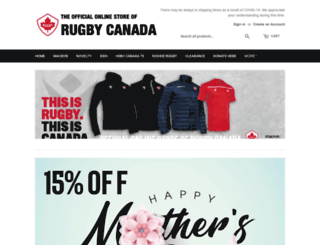 store.rugby.ca screenshot