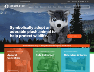 store.sierraclub.org screenshot